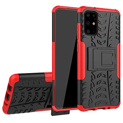 Labanema Funda para Moto E 2020, [Heavy Duty] [Doble Capa] [Protección Pesada] Híbrida Resistente Case Protectora y Robusta para Motorola Moto E 2020 - Rojo