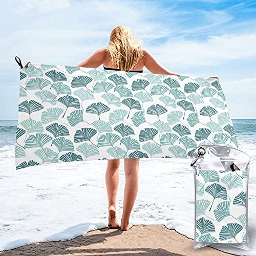 LYYNBLA Ginkgos80 x 160 cm Asciugamano da spiaggia in microfibra, super assorbente e ad asciugatura rapida
