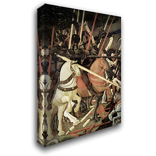 Uccello, Paolo 17x24 Gallery Wrapped Stretched Canvas Art Titled: Battle of San Romano (Detail)