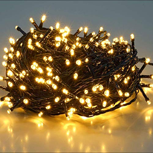 360 Leds Cadena de Luces IP44 Impermeable de 25 metros, LED Luz Cadena Ligera Navidad, Led Cadena Luminosa con 8 Modos, Led Decoración Interior Exterior para Jardín Balcón Fiestas (Blanco cálido)