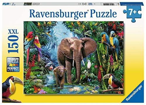 Ravensburger Kinderpuzzle 12901 Dschungelelefanten 12901-Dschungelelefanten-150 Teile, geel