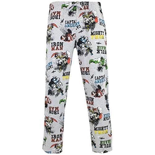 Marvel Pantaloni di Pigiama per Uomo Avengers Grigio Medium