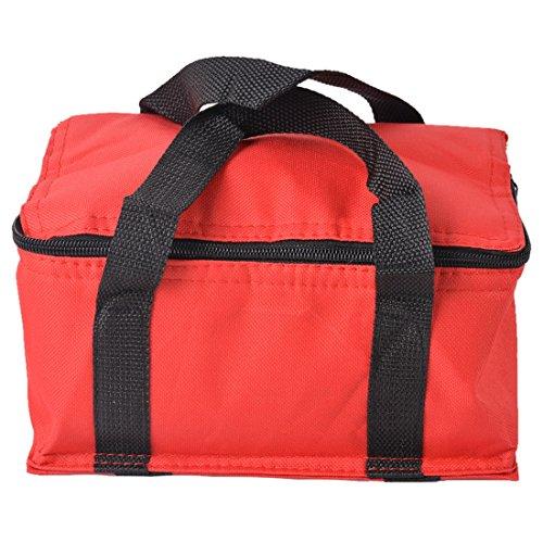 Sfit wiederverwendbar isoliert Food Bag Oxford Tuch grocrey Thermo Kühler Tote Pfanne Carrier mit Reißverschluss rot