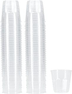 Benail 100-Pack 6-Ounce Plastic Disposable Cups Hard Disposable Plastic Party Tumblers