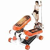 angroups Stepper Cardio Fitness,Mini Stepper Fitness Aeróbic para El Hogar, Pequeño Stepper con Plataformas Ajustables, Dispositivo Profesional con Pantalla para Progreso Entrenamiento