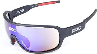ComeLife - anteojos de Sol polarizadas para Ciclismo con 5 Lentes Intercambiables para Hombres y Mujeres, para béisbol, esquí, Correr, Pesca, Golf