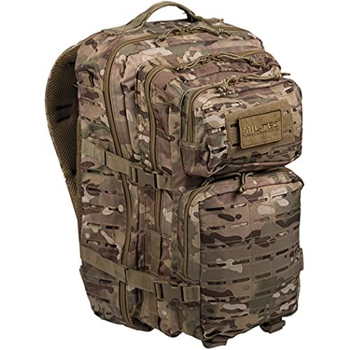 Tactical OPS MULTITARN 3 DAY Assault US Pack Molle Bag Rucksack | MILTEC USA Mochila US Assault 40L LARGE LaserCut Color: MULTITARN