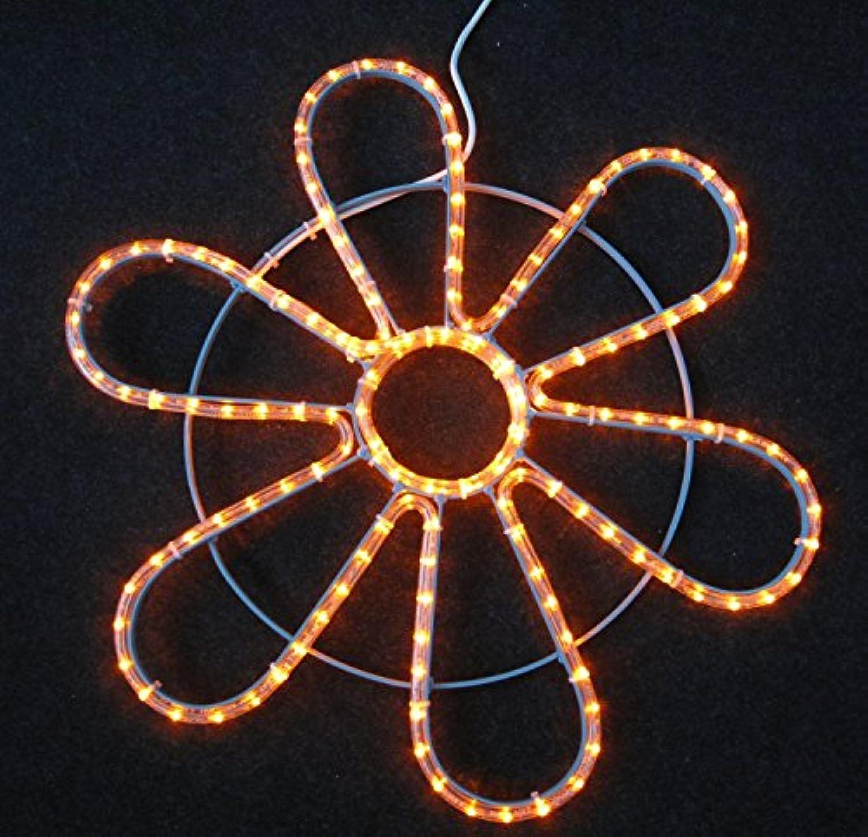 IKu  Lichtschlauch Lichtmotiv 230 V Orange Blaumendekoration 74 cm Durchmesser Aluminiumrahmen