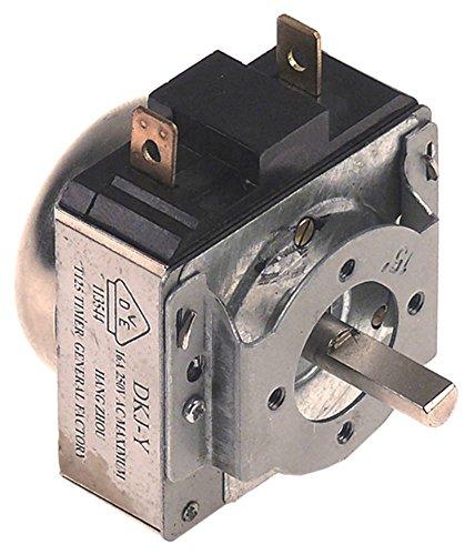 Tiempo Interruptor con campana 1NO 1pines 15min Automatismo tipo mecánico 16A Apto para Bartscher, Cook Max a040897a1515001, a151300, a151600para Salamandra, Tostadora