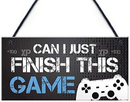 Funny Gamer Gift Gaming Sign for Boys Bedroom Door Man Cave Son Birthday Xmas Gift Wall Decor
