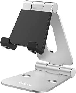 Nulaxy Tablet Stand, Adjustable Tablet Holder Stand for iPad, Cell Phone Stand, Desktop Holder Cradle Compatible with iPad Mini Pro Air, iPhone Xs Max XR X 8 7 6S 6 Plus etc, 4-10'' Devie –Silver