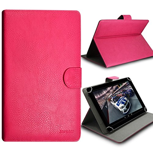 Seluxion-Funda universal con tapa, rosa y soporte para tablet T1 8,0 Huawei MediaPad MediaPad M1, M2 y