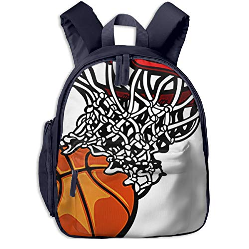Children's Backpacks Net Basketball Hoop Ball Students School Bag Child Kids Casual Daypack Sports Travel Outdoor Lightweight for Boys Girls