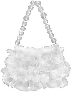 VALICLUD Frauen Umhängetasche Beuteltasche mit Perlenkette Spitze Umhängetasche Seide Beutel Geldbörse Clutch Einkaufstasc...