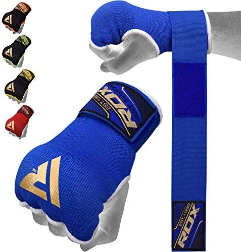 RDX Boxen Elastisch Innenhandschuhe MMA Boxbandagen Handschuhe Daumenschlaufe,blau,L