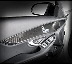 Eppar New Carbon Fiber Interior for MERCEDES BENZ C-Class (W205) 2015-2018 C180 C200 C220 C250 C300 C350 (Inside Door Panel 4PCS)