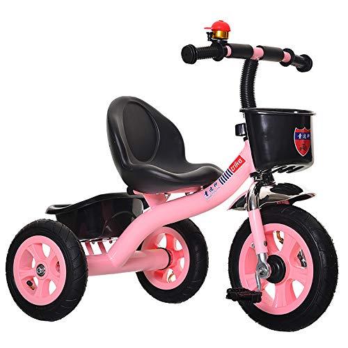 JINHH Triciclos Bebes 1 año, Infantil 3 Ruedas Pedal Trike- Frontal Cesta -Asiento Regulable-Estructura Tubular de Metal - para Edades 2-5 Años