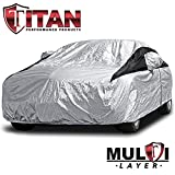 Premium Multi-Layer PEVA Car Cover for Camry, Mustang, Accord and More. Waterproof and UV Protective. Measures 200 Inches. Protective Lining, Driver-Side Zippered...