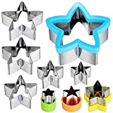 Five-Pointed Star Cookie Cutter set, Stainless Steel Sandwich Knife set Five-Pointed Star Cookie Vegetable and Fruit Knife Cookie Mold Suitable for Children's Cakes and Biscuits
