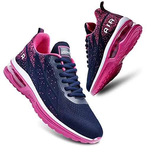 JARLIF Air Tennis Running Shoes for Women Fashion Sneakers Athletic Walking Fitness Cross Training Shoes(Size10.5, BlueRed)