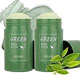 Kexle 2 PCS Green Tea Mask Stick Blackhead Remover Deep...
