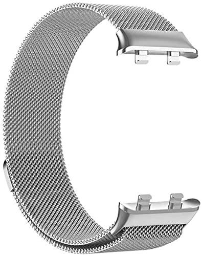 Correa de Reloj Correa de Reloj de Repuesto de Malla de Acero Inoxidable Ajustable Transpirable E Impermeable Correa de Pulsera Rápida Para Hombres y Mujeres,Silver-41MM