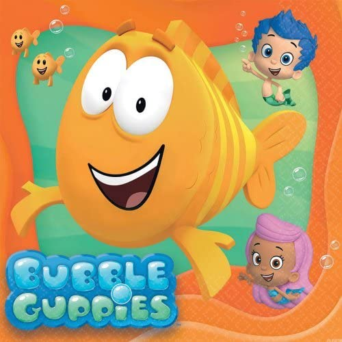 Bubble Guppies Luncheon Napkins - Birthday and Theme Party Supplies - 16 per Pack by SmileMakers