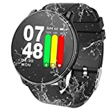 Smart Watch Waterproof Fitness Tracker with Heart Rate Monitor Sleep Monitor Calorie Pedomete Long Battery Life Compatible Android & iOS Smartphones for Men Women Kids