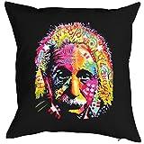 Kissen mit Füllung, Dekokissen, Sofakissen mit farbigen Einstein Motiv!
