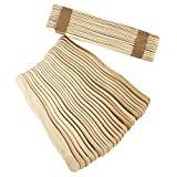 Artlicious - 200 Unfinished Natural Wood Wavy Popsicle Craft Sticks, 8