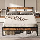 LIKIMIO Full Size Bed Frame with Headboard, Platform Metal Bed Frame Full with 14 Heavy Duty Steel Slats, More Sturdy, Noise-Free, No Box Spring Needed