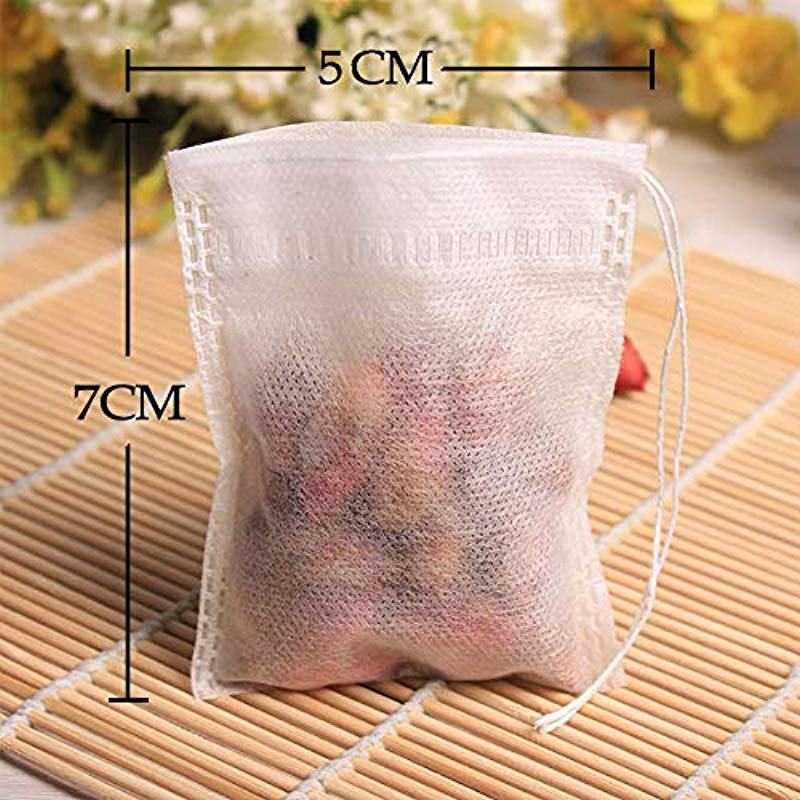 Kawagirl Tea Filter Bags Disposable Tea Empty Cotton Drawstring Seal Filter Tea Bags 2X 2 7 Inch 300