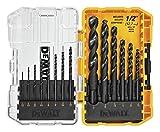 DEWALT DWA1184 14Piece Set Black Oxide Coated HSS Twist Drill Bit Set