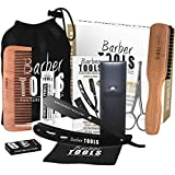 Kit de cuidado y cuidado para barba y afeitado. 10 Accesorios  BARBER TOOLS