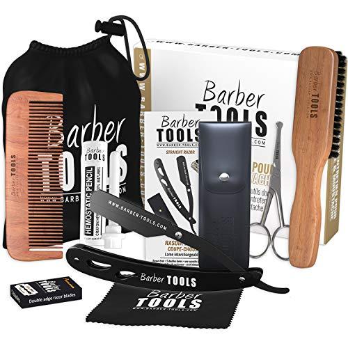 Kit de cuidado y cuidado para barba y afeitado. 10 Accesorios ✮ BARBER TOOLS ✮