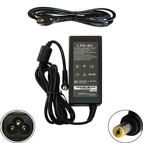 Lite-an Chargeur pour Packard Bell EasyNote TE11BZ TE11HC TE69 TE69KB LE69 Ordinateur PC Portable - Adaptateur d'alimentation 65W 19V 3.42A