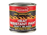 Everbuild Heat Resistant Paint, Matt Black, 125 ml