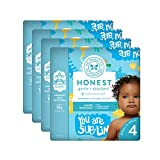The Honest Company Baby Diapers with Trueabsorb Technology, Yellow Submarines, Size 4, 92 Count