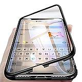 Sweau Compatible con iPhone 7 Plus Funda de Adsorción Magnética,360 Full Body Protection Cubierta Trasera de Vidrio Templado Ultra Delgado Metal Bumper Case Cover para iPhone 7 Plus