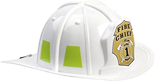 Aeromax Jr. Firefighter Helmet Toy, White, Adjustable