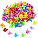 WolinTek 100 Pièces Mini Pince à Cheveux,Mignon Papillon Pinces à Cheveux de Couleurs Assorties,Accessoires pour Cheveux pour Femmes et Filles