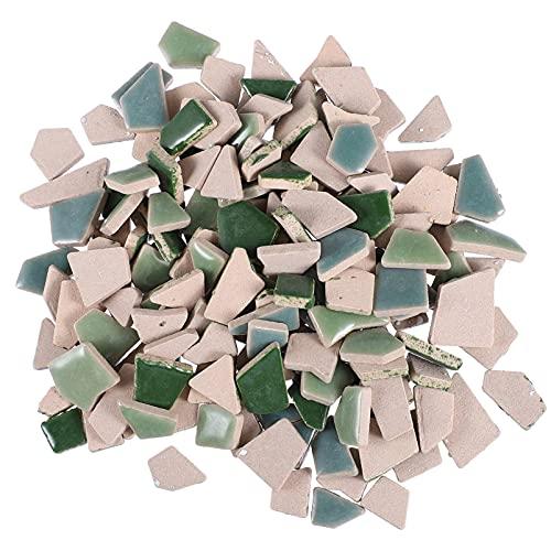 IMIKEYA 200G de Piedras de Mosaico Irregular Azulejos de Mosaico Piezas de Vidrio Azulejos Vidriados Delicados Bonitos Azulejos de Mosaico DIY para La Decoración del Hogar O Manualidades