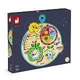 Janod - Calendario Educativo per Bambini 'Au Fil du Temps' in Legno - Versione Italiana - Da 3 Anni, J09622