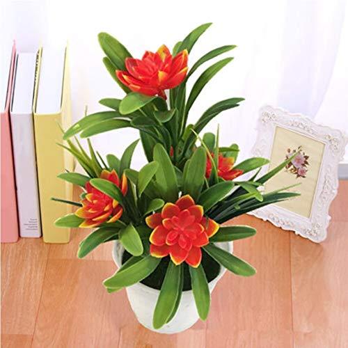 AOOGPLRUM Presente Simulação Realista Loja Flor Artificial Falso Bonsai Vasos de Plantas Jardim Home Desktop Do (1)