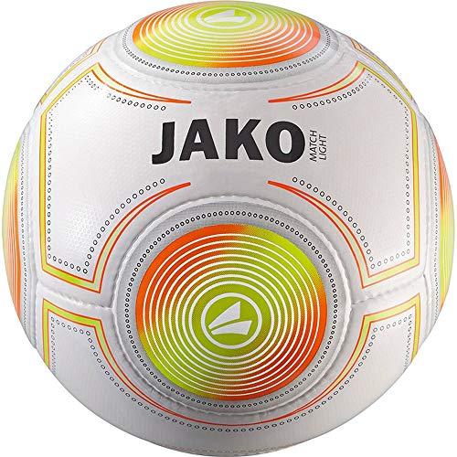 JAKO Lightball Match Ball, weiß/Neonorange/Neongelb-350g, 5