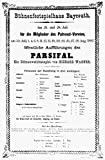 Wagner: Parsifal 1882. /Nprinted Announcement of The First