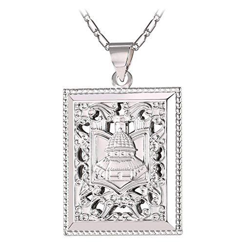 Arabic Palace Jewelry - Collar cuadrado de Dubai para hombres y mujeres