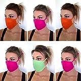 Set 6 Mundnasen Gesichtsmasken stoffmasken mundschutz Baumwolle elastische Schlaufen waschbar Mundschutz Maske waschbar Gesichtsmaske wiederverwendbar Mehrwegmaske Schutzmaske Mund Nasen Maske