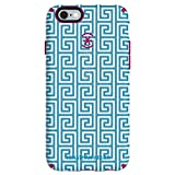 Speck Products CandyShell Inked Jonathan Adler Cell Phone Case for iPhone 6 Plus/6S Plus, AquaGreekKey/Lipstick Matte