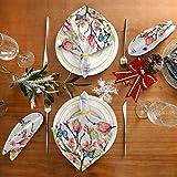 Funnyy Frühling Schmetterling Blume Vögel Stoffservietten waschbar Abendessen Servietten übergroß weich wiederverwendbar Satin Tische Servietten mehrfarbig - 2
